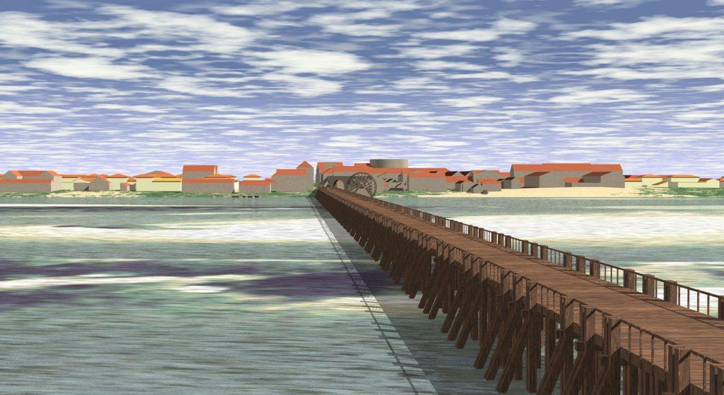 reconstitution-pont-ier-siecle-avec-noria