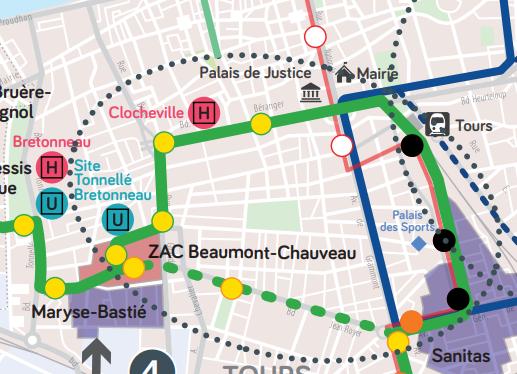 La deuxième ligne de tramway de l'agglomération tourangelle passera bien par le Bd Béranger, et non par le Bd Jean Royer. @ADTT