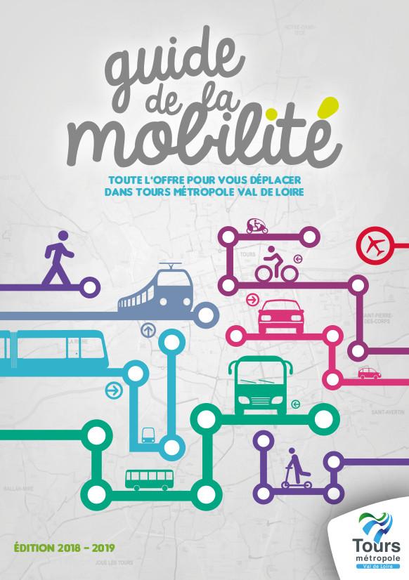 Couverture du guide de la mobilité (édition 2018-2019). @Tours Métropole Val de Loire.