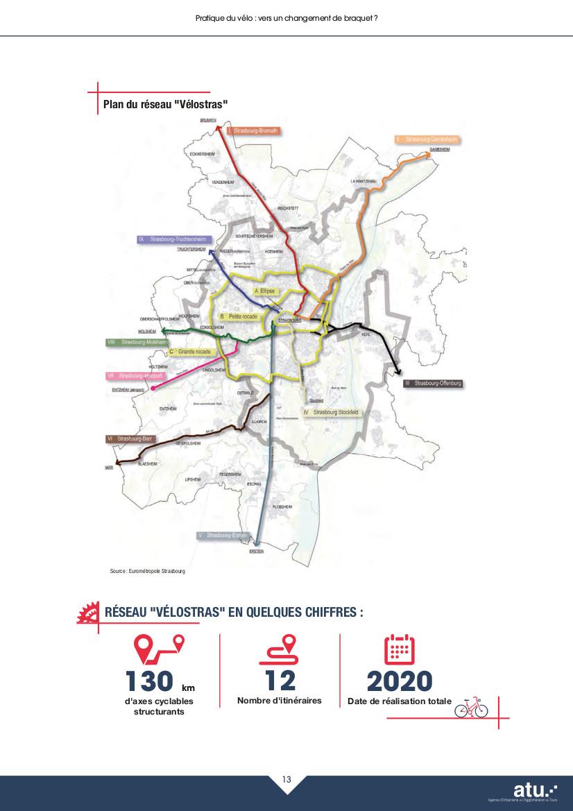 Le futur réseau structurant vélo de Strasbourg. Questions de mobilité n° 13 - Octobre 2018. @ATU
