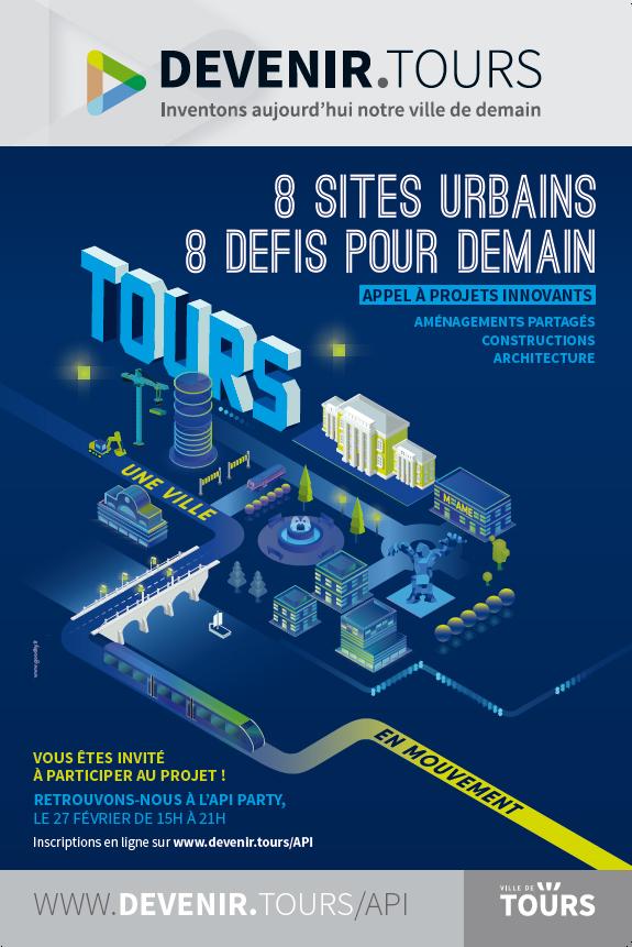 """Visuel officiel de la campagne """"Appel à projets innovants"""" (API). ©Ville de Tours"""