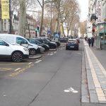 Vue d'une des contre-allées de l'avenue de Grammont, à Tours, le 3 février 2019. @photo CC37