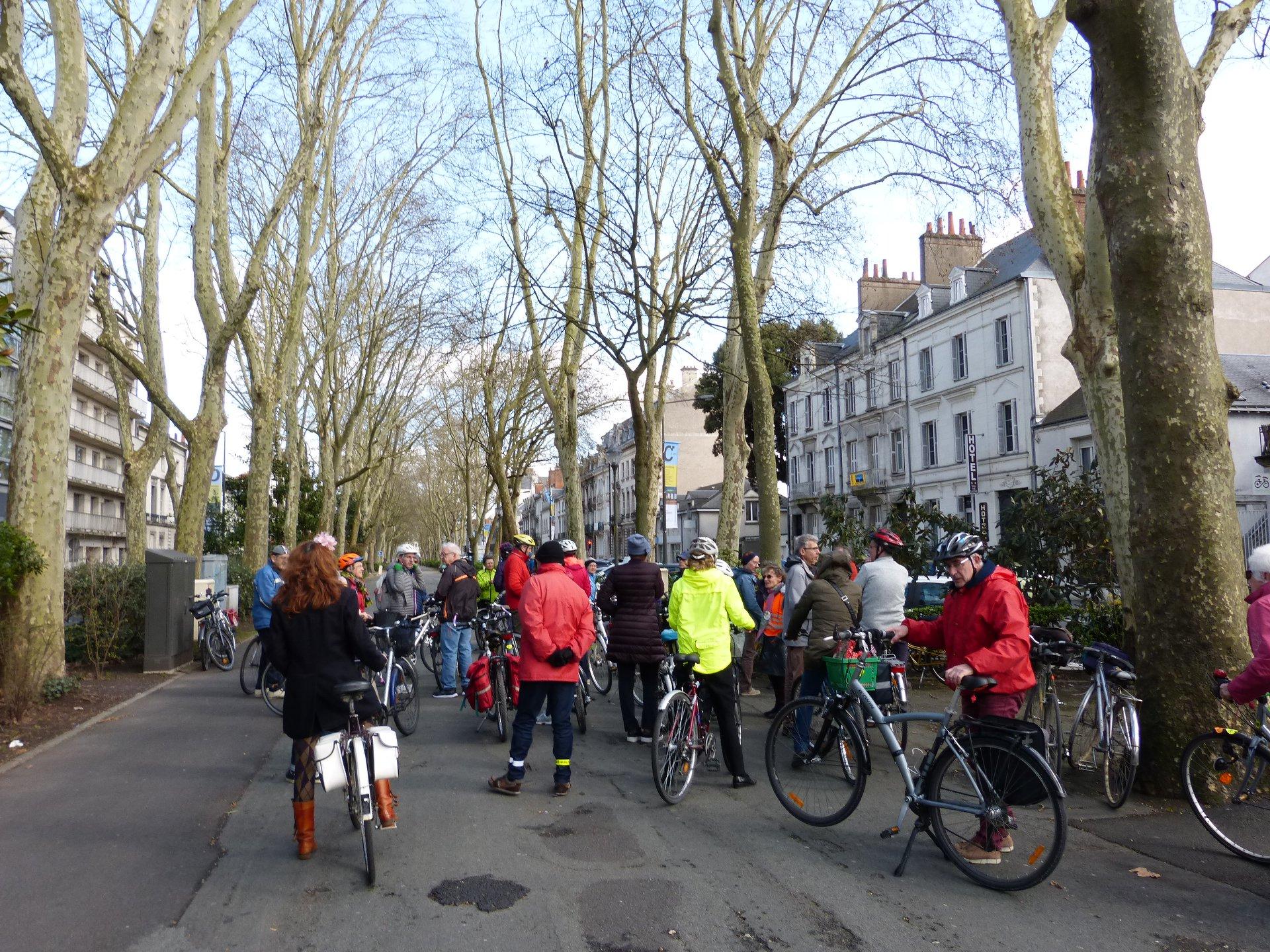 Balade à vélo du 10 mars 2019 sur le mail du Boulevard Béranger, à Tours. @CC37