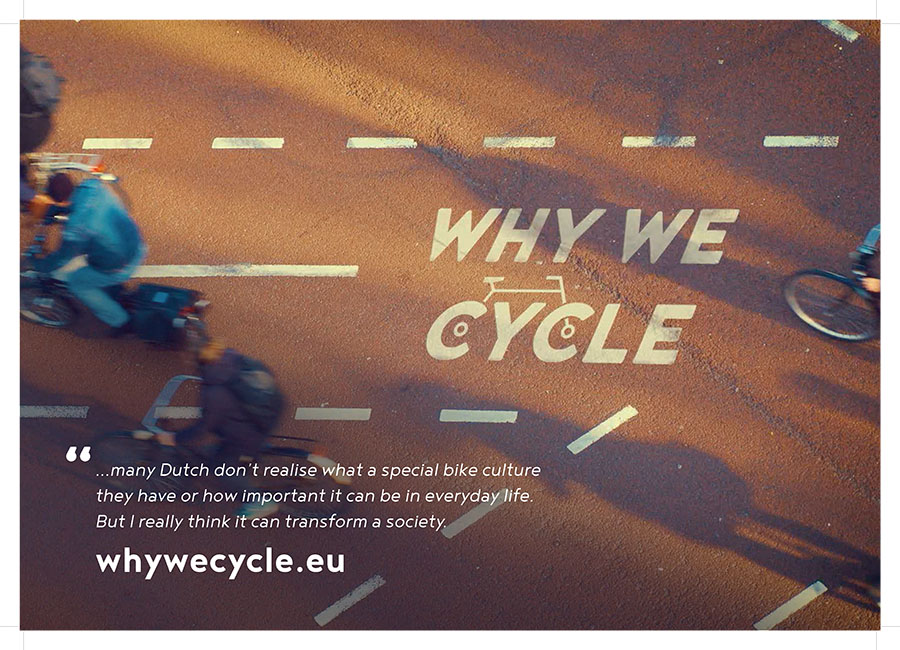 Affiche du film documentaire Why we cycle.