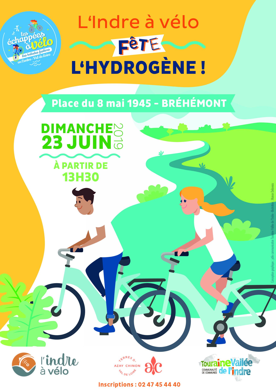 Affiche de l'Indre à vélo, dimanche 23 juin 2019.