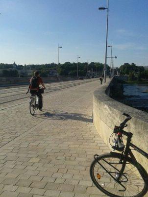 1er comptage vélo sur le Pont Wilson