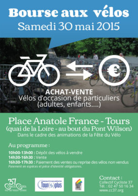 Samedi 30 mai : bourse aux vélos et Fête du Vélo 2015 à Tours !