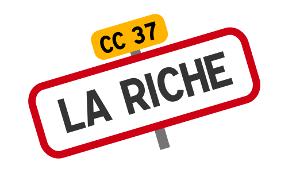 La Riche : carte des temps de trajets à vélo