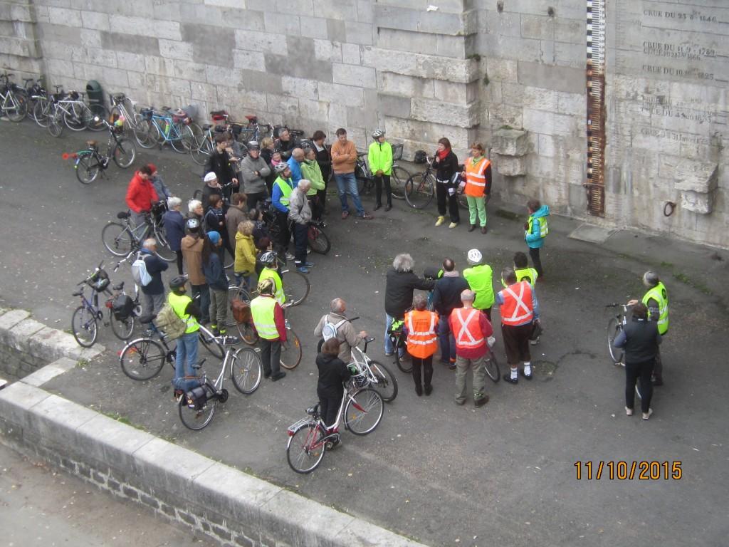 Vélo conférence « Tours au fil de l'eau » à Tours le 11 octobre 2015. @CC37