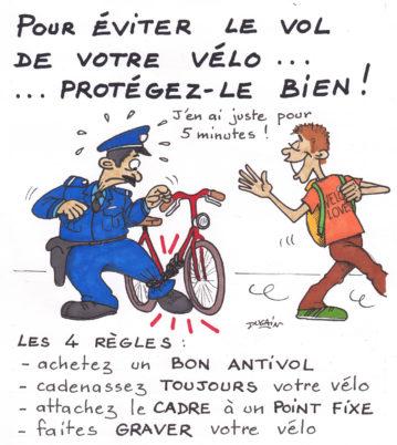 Campagne d'animations de lutte contre le vol de vélos (novembre 2015) : le CC37 a besoin de vous