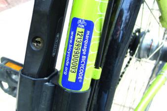 Exemple de marquage Bicycode. @FUB, 2013.