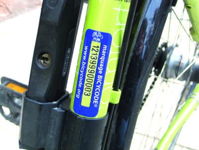 Reprise du marquage Bicycode le 15 janvier 2021
