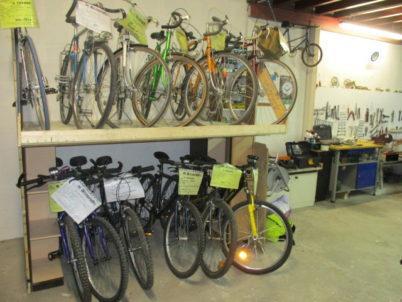 Espace de vente de vélos d'occasion