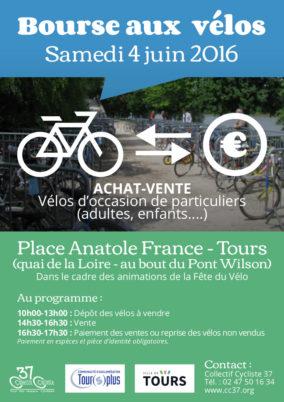 Samedi 4 juin 2016, bourse aux vélos d'occasion