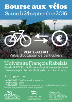 Samedi 24 septembre 2016 : bourse aux vélos