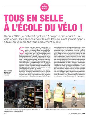 Tous en selle à la vélo-école ! Article paru dans TMV