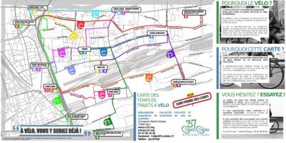 Saint-Pierre-des-Corps : la carte des temps de trajets à vélo est disponible !