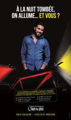 «Cyclistes brillez !» ou l'art de se faire bien voir…