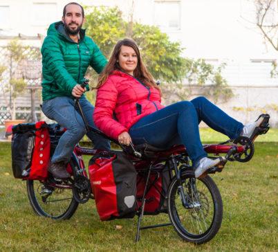 Un jeune couple du Collectif Cycliste 37 à l'aventure au long cours !