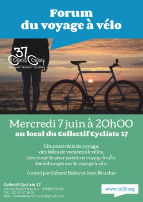 Mercredi 7 juin à 20h00 : forum du voyage à vélo