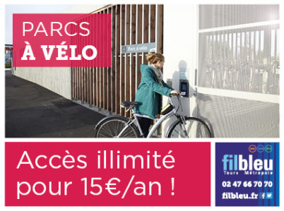Nouveau tarif Fil Bleu : le pass Parcs à Vélo à 15 €/an