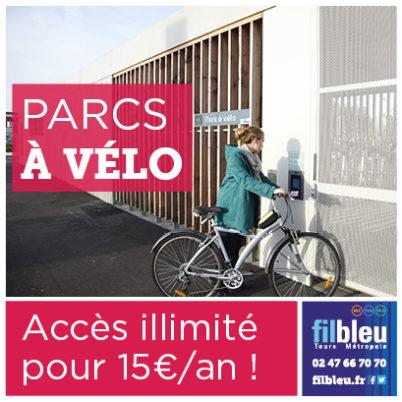 Les parcs à vélo Fil Bleu accessibles à tous pour 15€/an !