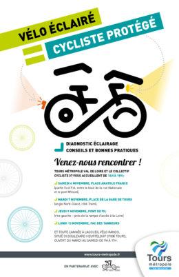 « Cyclistes, brillez ! » : campagne 2017 de sensibilisation à l'éclairage vélo