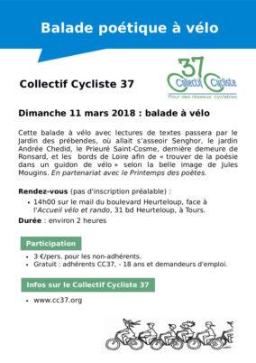 Dimanche 11 mars 2018 : balade poétique à vélo