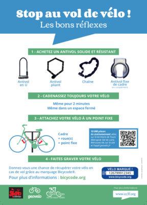 «Stop au vol de vélo !», la nouvelle affiche du Collectif Cycliste 37