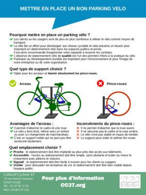 Stationnement vélo sur le domaine privé : les documents de référence