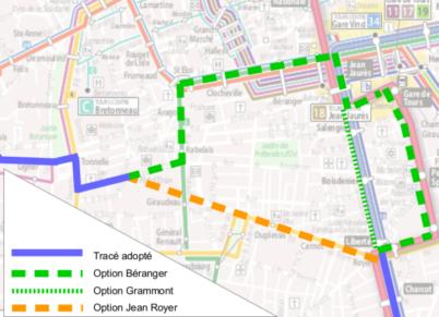 Les propositions de l'ADTT pour la 2ème ligne de tram