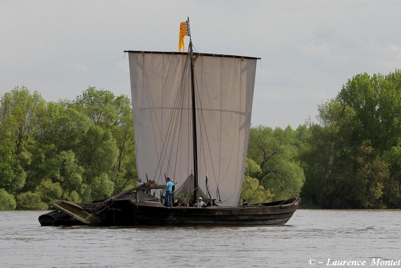 Une gabarre sur la Loire. @Photo : Laurence Montet