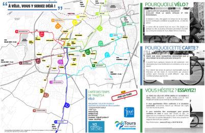 Carte des temps de trajets à vélo de Joué-lès-Tours : elle est sortie !