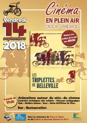 Vendredi 14 septembre 2018, place Velpeau : animations et projection en plein air !