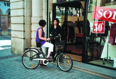 Vélos et commerces de proximité, une bonne complémentarité