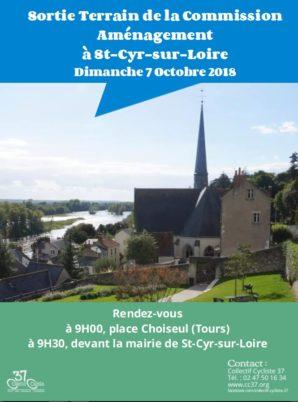 Commission Aménagement : Sortie terrain à Saint-Cyr-sur-Loire le dimanche 7 octobre 2018