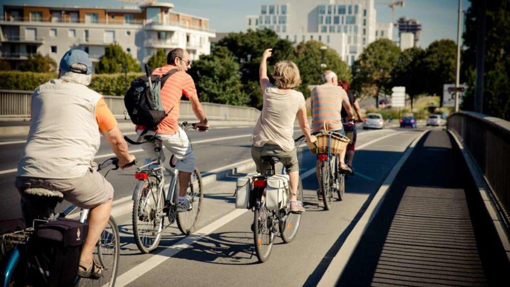 Une piste cyclable de Nantes Métropole.