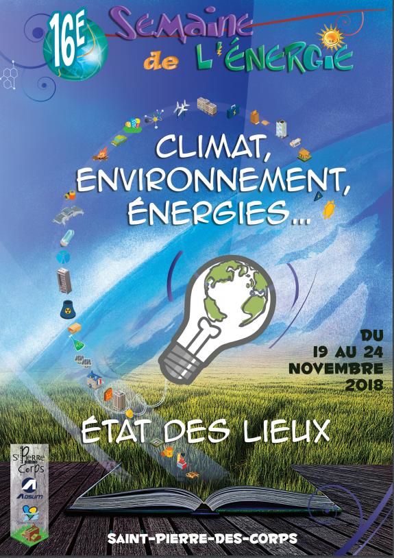 Affiche officielle de la 16ème édition de la Semaine de l'énergie à Saint-Pierre-des-Corps. @Adsum