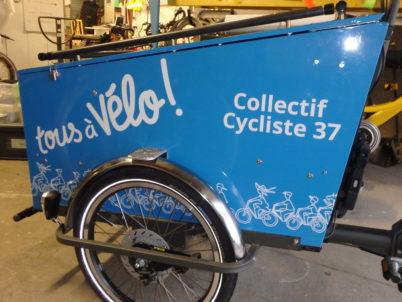 Un vélo-cargo pour le Collectif Cycliste 37 !