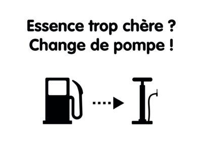 Essence trop chère ? Change de pompe !