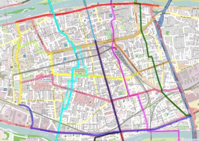 Carte des temps de trajets à vélo à Tours : à vos chronomètres !