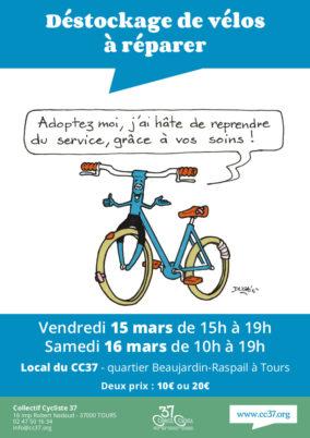 Vendredi 15 et samedi 16 mars : grand déstockage de vélos adultes et enfants !