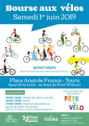Bourse aux vélos d'occasion à Tours samedi 1er juin 2019