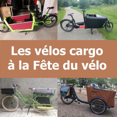 Les vélos cargo à la Fête du Vélo 2019