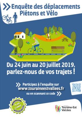 Touraine-Est Vallées : enquête sur les déplacements à vélo