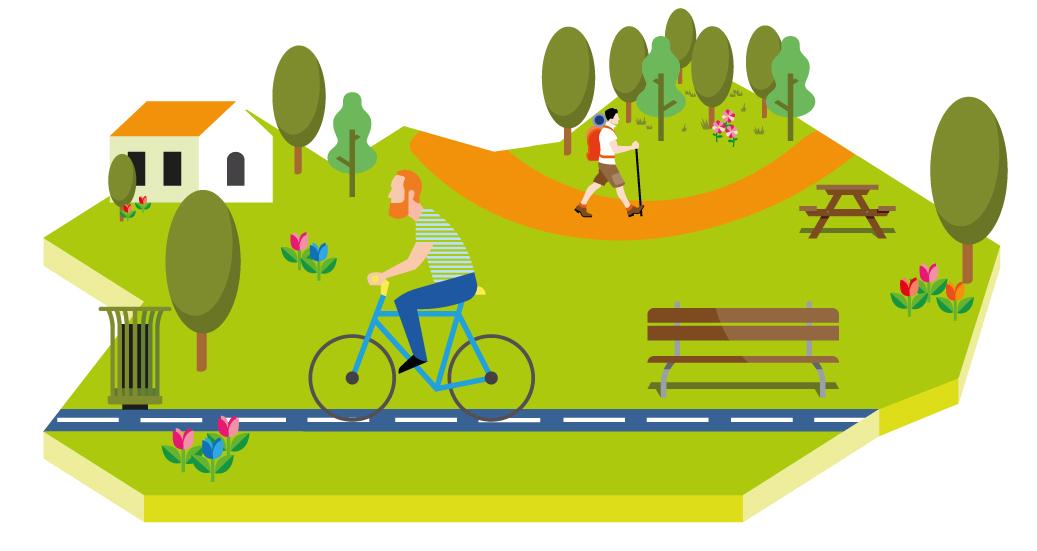 Illustration de l'enquête vélo de la Communauté de communes Touraine Est-Vallées