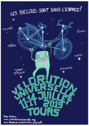 Du 11 au 14 juillet 2019, Tours accueillera la Vélorution Universelle !