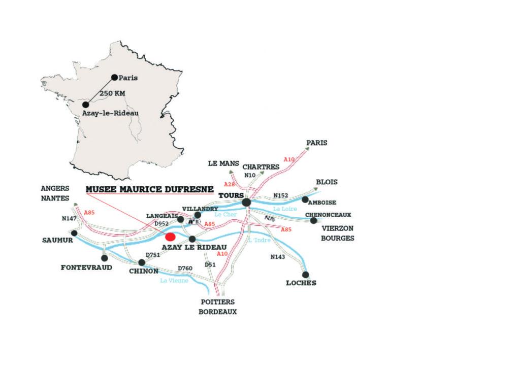 Carte précisant l'accès au Musée Maurice Dufresne.