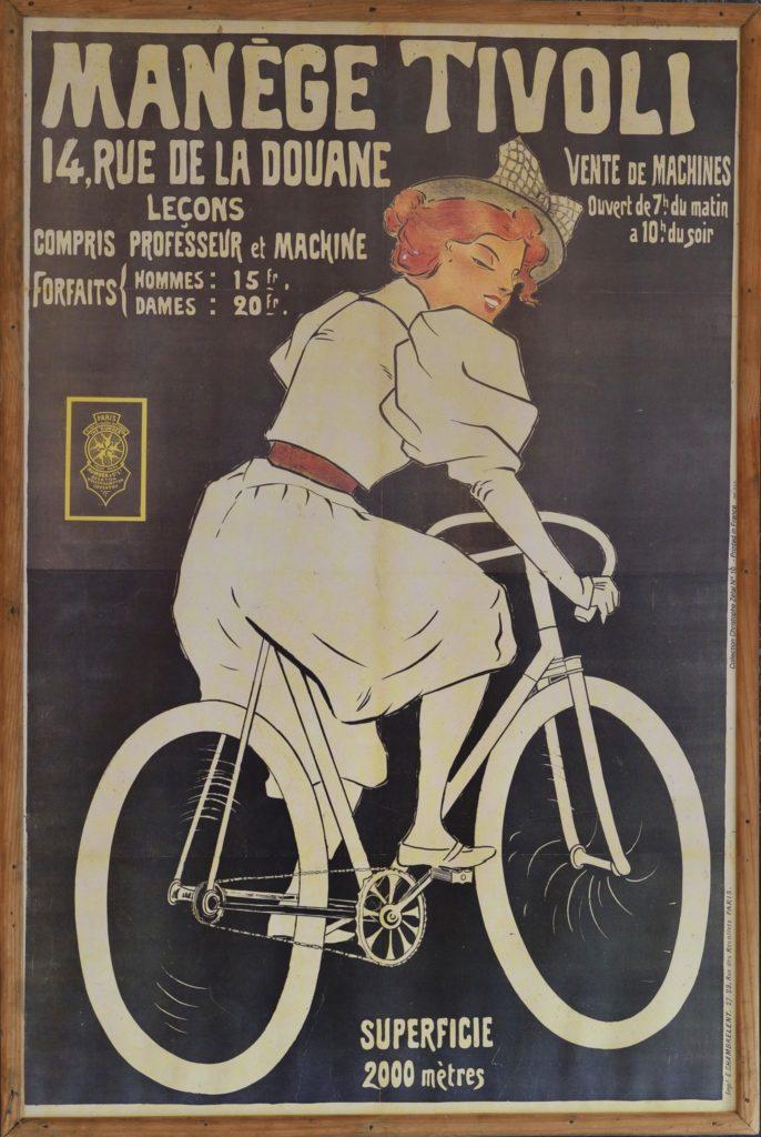 Réclame pour le manège Tivoli. @Musée Maurice Dufresne, 2019.