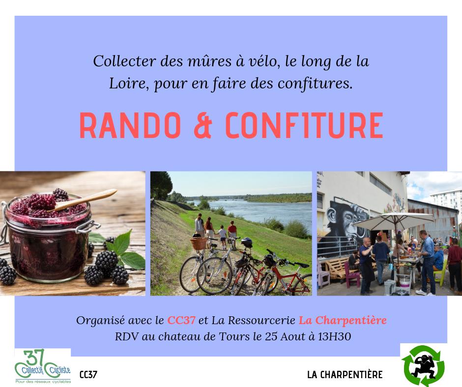 Rando et confiture, une balade à vélo et un atelier confitures. @La Charpentière, 2019.